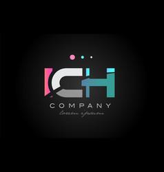 ich i c h three letter logo icon design vector image