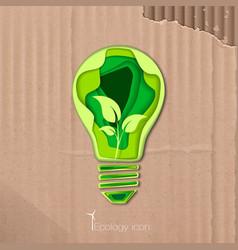 icon of energy saving vector image