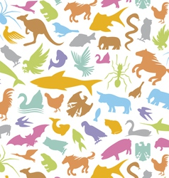 seamless background with animal vector image vector image