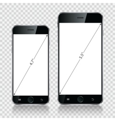 Smartphone mobile phone isolated realistic vector image