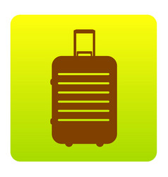 baggage sign brown icon at vector image