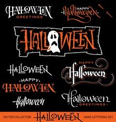 Halloween hand lettering set vector