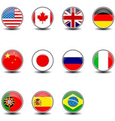 round flags vector image vector image