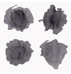 set of grunge watercolor splashes vector image