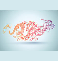 chinese colorful dragon vector image