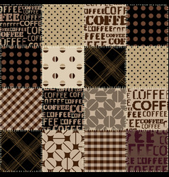 Coffee abstract coffee beans on brown background vector