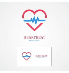 Combination of a heart and pulse with business vector image vector image