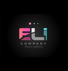 eli e l i three letter logo icon design vector image vector image