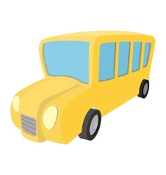 School bus cartoon icon vector