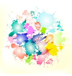 splash circle vector image