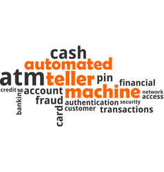 Word cloud - automated teller machine vector
