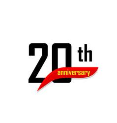 20th anniversary abstract logo twenty vector image