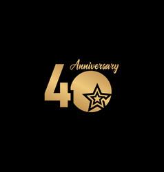 40 years anniversary celebration star gold logo vector