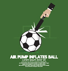 Air Pump Inflates Ball vector image