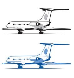 Airplane is landing vector