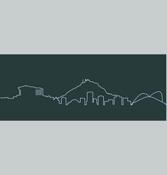 Athens single line skyline vector