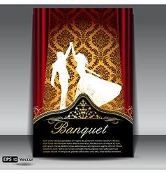 Banquet flyer vector image