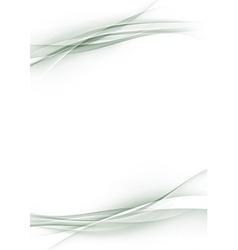 Beautiful abstract modern wave border sheet page vector image vector image