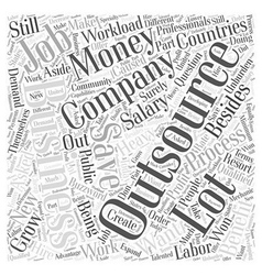 benefit outsourcing Word Cloud Concept vector image