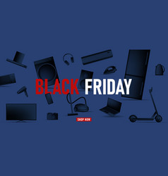 Black friday banner with monochrome vector