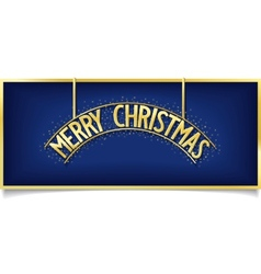 Blue Christmas design inscription on signboard vector image