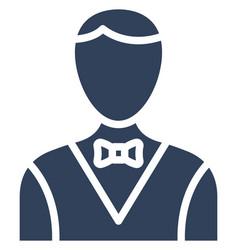 Butler icon which can easily modify or edi vector