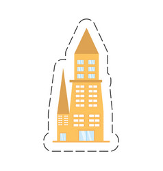 Cartoon building architecture urban vector