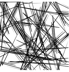 chaotic texture with zigzag lines rough random vector image