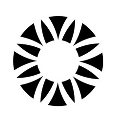 Circle flower segmented logo icon simple style vector