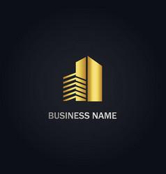 cityscape building design logo vector image