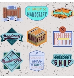 Color retro design insignias logotypes set vector image