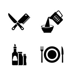 cooking kitchen tools simple related vector image