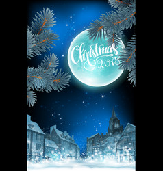 Cristmas background highly realistic t vector
