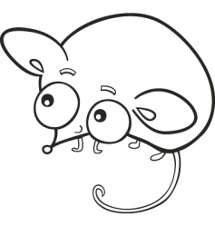 cute mouse for coloring book vector image