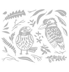 Decorative australian birds - scarlet robin vector