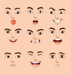 Different facial expressions human vector