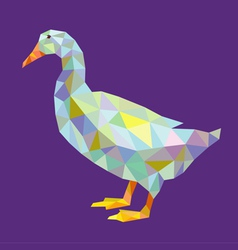 Duck lowpoly vector