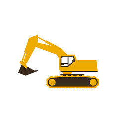 Excavator icon sleek style vector