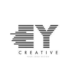 ey e y zebra letter logo design with black and vector image