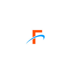 f letter swoosh logo vector image