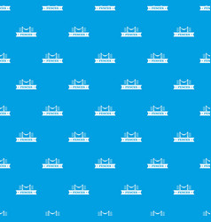 Fence parade pattern seamless blue vector
