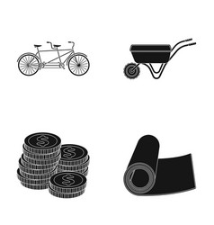 Finance agriculture and other web icon in black vector