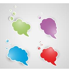 Four speak bubbles vector