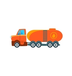 Gas Truck Toy Cute Car Icon vector image