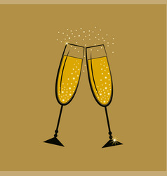 glasses with champagne vector image