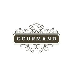Gourmand Restaurant banner vector image