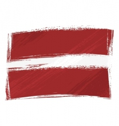 Grunge Latvia flag vector