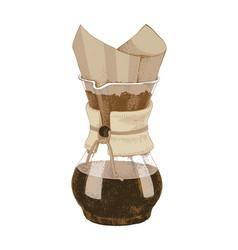 hand drawn chemex coffeemaker vector image