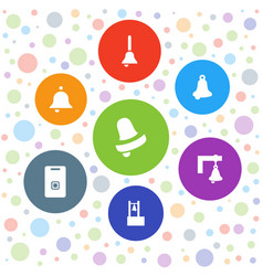Handbell icons vector