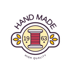 Handmade logo template high quality since 1963 vector